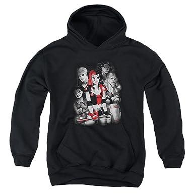 Batman Mens Bad Gals Bw Pullover Hoodie