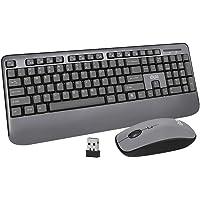 Wireless Keyboard and Mouse, UHURU Full-Size Wireless Mouse and Keyboard Combo with Mouse Pad, 2.4GHz USB Wireless…