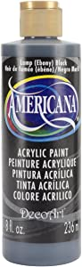 DecoArt DA067-9 Americana Acrlics, 8-Ounce, Lamp (Ebony) Black