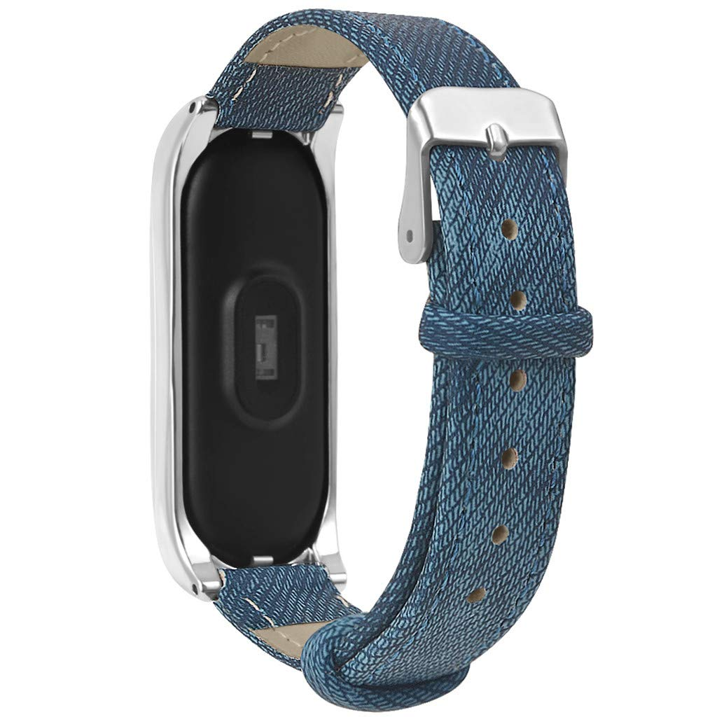 Amazon.com: HowLoo Cowboy Replacement Band Strap + Metal Case for Xiaomi Mi Band 3 Bracelet Banda de reloj inteligente (Silver): Car Electronics