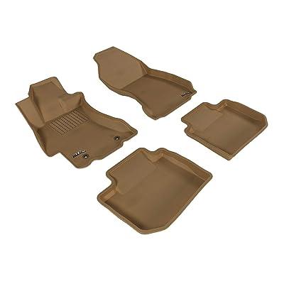3D MAXpider Complete Set Custom Fit All-Weather Floor Mat for Select Subaru WRX/ WRX STI Models - Kagu Rubber (Tan): Automotive