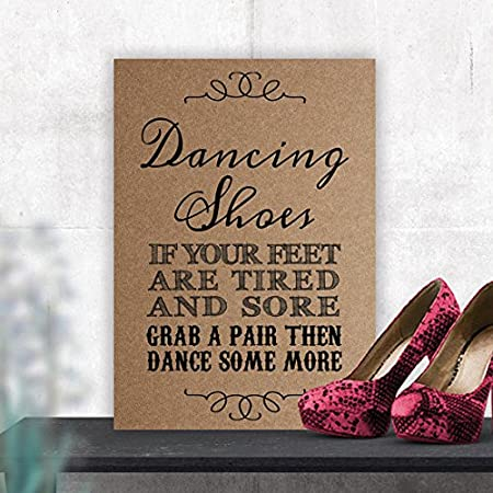 d664e7feed3a Dancing Shoes Wedding Flip Flop Table Sign (BB) (Brown)  Amazon.co.uk   Kitchen   Home