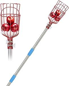 3L-Orz Fruit Picker Tool- 8FT Height Adjustable Fruit Picker Apple Orange Pear Picker with Light-Weight