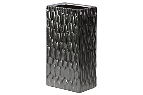 Amazon Urban Trends Ceramic Tall Rectangular Vase With Embossed