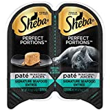 Sheba Perfect Portions Wet Cat Food Paté In Natural Juices Signature Seafood Entrée, (24) 2.6 Oz. Twin-Pack Trays