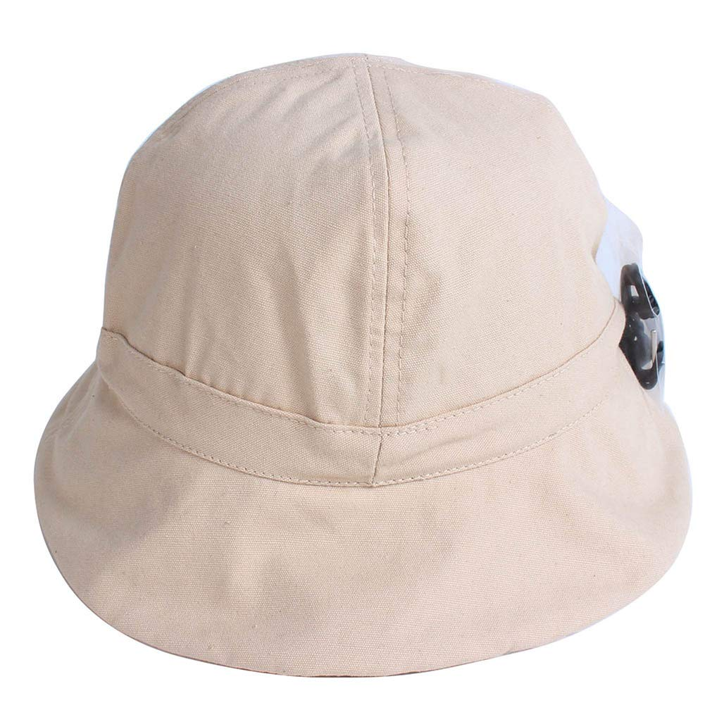 Sunscreen Men Women Bucket Hat Caps Summer Autumn Solid Color Fisherman Panama Cotton Fedora Simple Hats