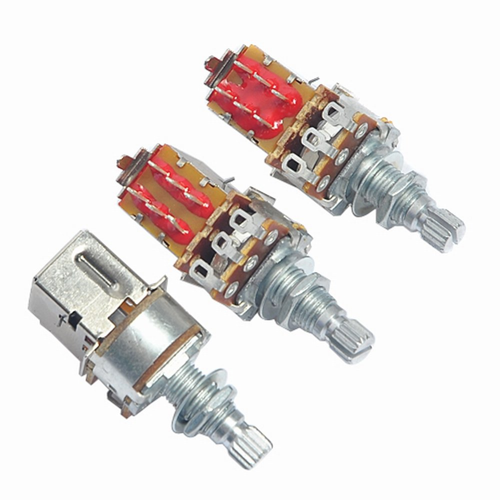 3pcs B500k Push Pull Guitar Control Pot Potentiometer Wiring The Two Pushpull Potis One On Vol Poti Switches Chrome Musical Instruments