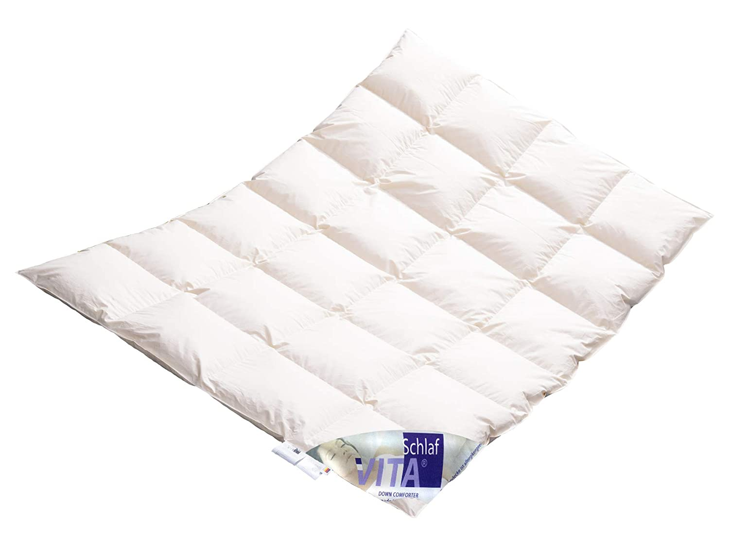 Vita® Schlaf Winter Daunendecke Daunenbett MEGA WARM Premium Decke WILDENTE Made in Germany Since 1947 Große Größen (200x220cm)