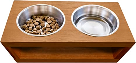 TFKitchen PVC Elevated Dog and Cat Pet Feeder Single Bowl Raised Stand