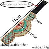 ForShop Charm Ethnic Colorful Resin Beads Imitation Elastic Strech Adjustable Belt Waist Belly Chain Body Jewelry Women Dress Accessory