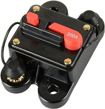 4 GAUGE 200 AMP CAR STEREO 12V INLINE POWER CIRCUIT BREAKER 200A NEW STINGER 0