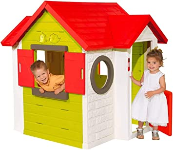 Smoby- Casa de jardín, Color Verde/Gris/Blanco/Naranja (810400): Amazon.es: Juguetes y juegos
