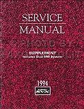 1994 Subaru SVX Airbag SRS System Repair Shop Manual Supplement Original
