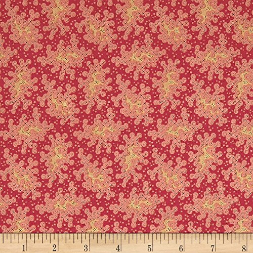 Andover Maling Road Lace Red Fabric By The Yard