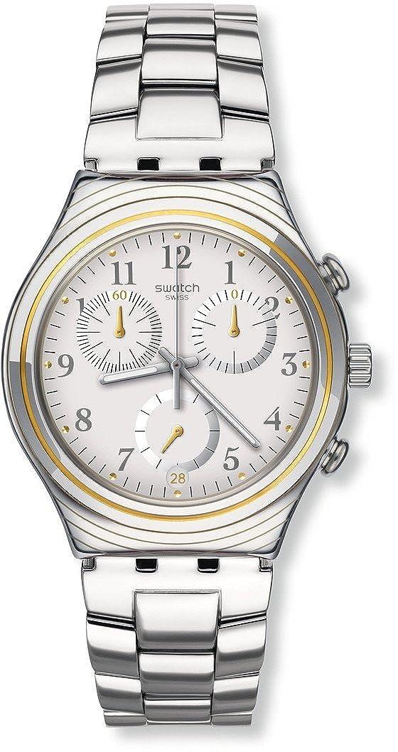 Swatch Reloj Digital para Hombre de Cuarzo con Correa en Acero Inoxidable YCS586G