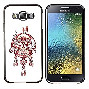 """For Samsung Galaxy E5 E500 Case , Indian Smoke Jefe Paz Blanco Rojo"""" - Diseño Patrón Teléfono Caso Cubierta Case Bumper Duro Protección Case Cover Funda"""