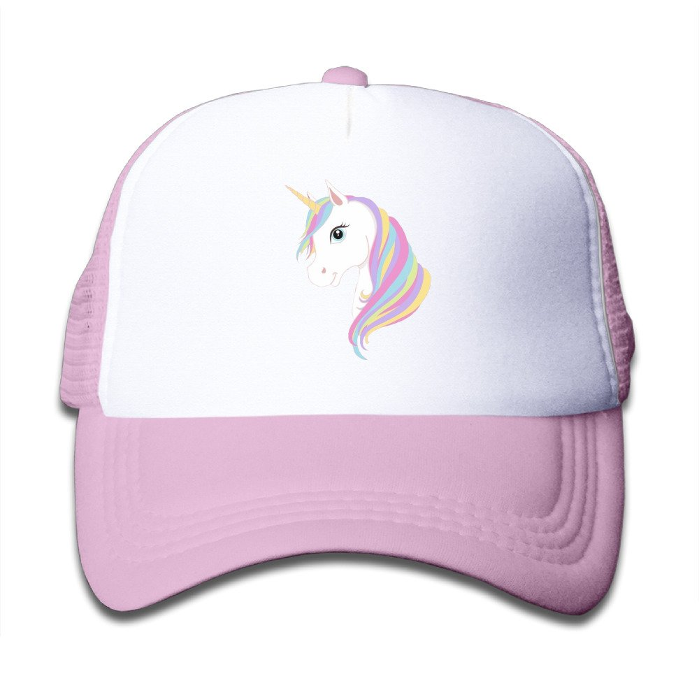 Kids Unicorn Printing Caps Funny Baseball Mesh Hat For Girls Boys Pink