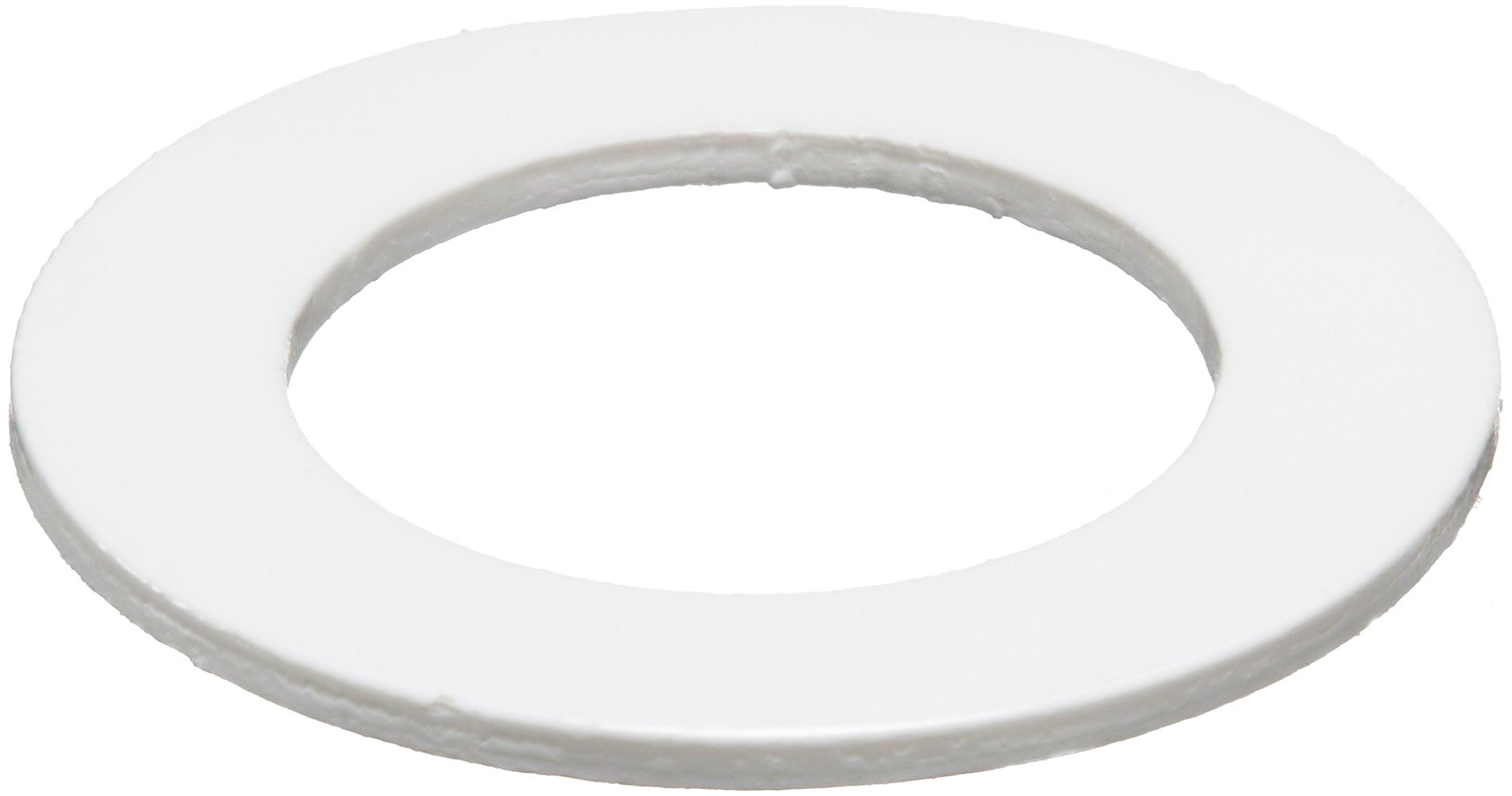 PVC (Polyvinyl Chloride) Round Shim, White, 0.025'' Thickness, 3/4'' ID, 1-1/8'' OD (Pack of 10) by Small Parts