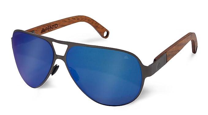 Amazon.com: fento kaveli – Gafas de sol de madera, Azul ...