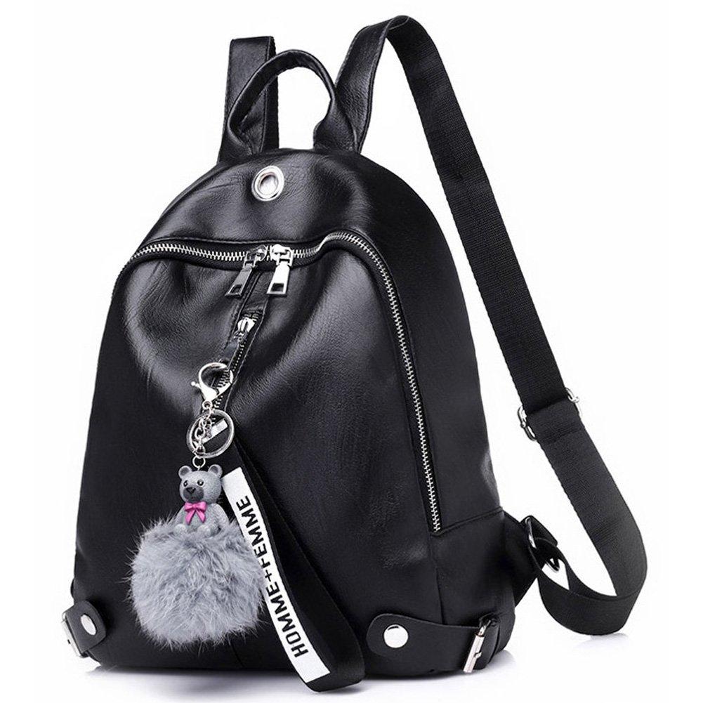 Women Backpack Purse Waterproof Soft and Lightweight PU Leather Cute Casual School Shoulder Bag