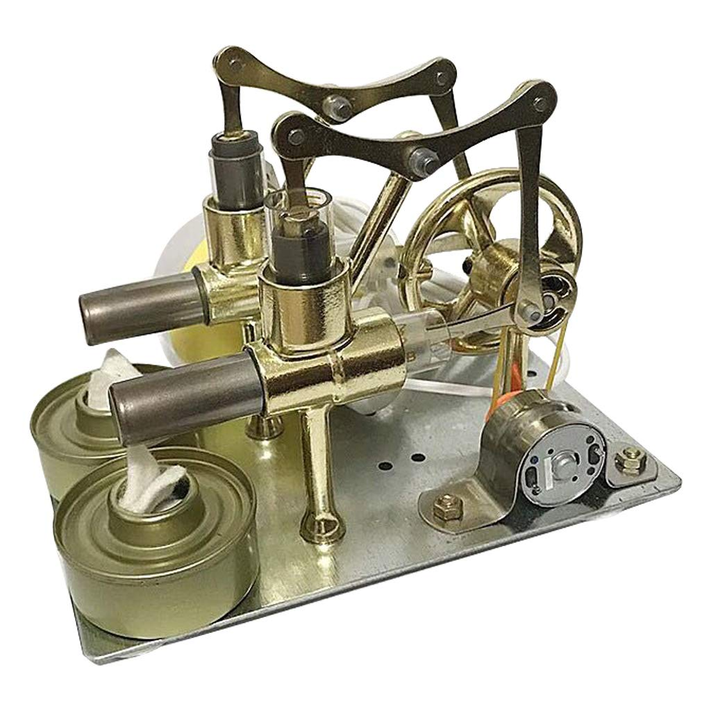 Powerful Hot Air Stirling Engine Model Toy DIY Mini Air Heat Engine Generator