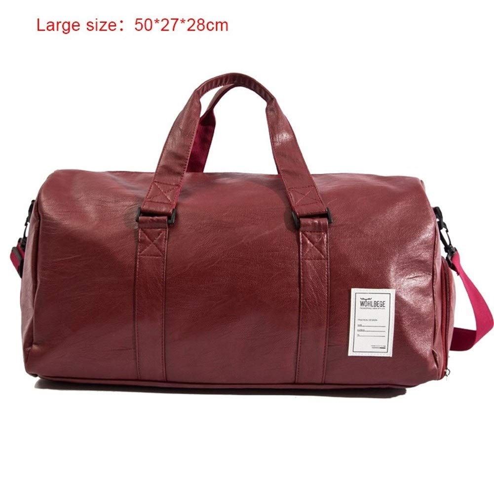 2019 Quality Travel Bag Black PU Leather Couple Travel Bag Portable Luggage Men And Women Fashion Sandbags