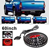 "Danti Waterproof 60"" Red/white Tailgate LED Strip Light Bar Reverse Brake Turn Signal Tail for Ford GMC Toyota Nissan Honda Truck SUV 4x4 Dodge Ram Chevy chevrolet Avalanche Silverado"