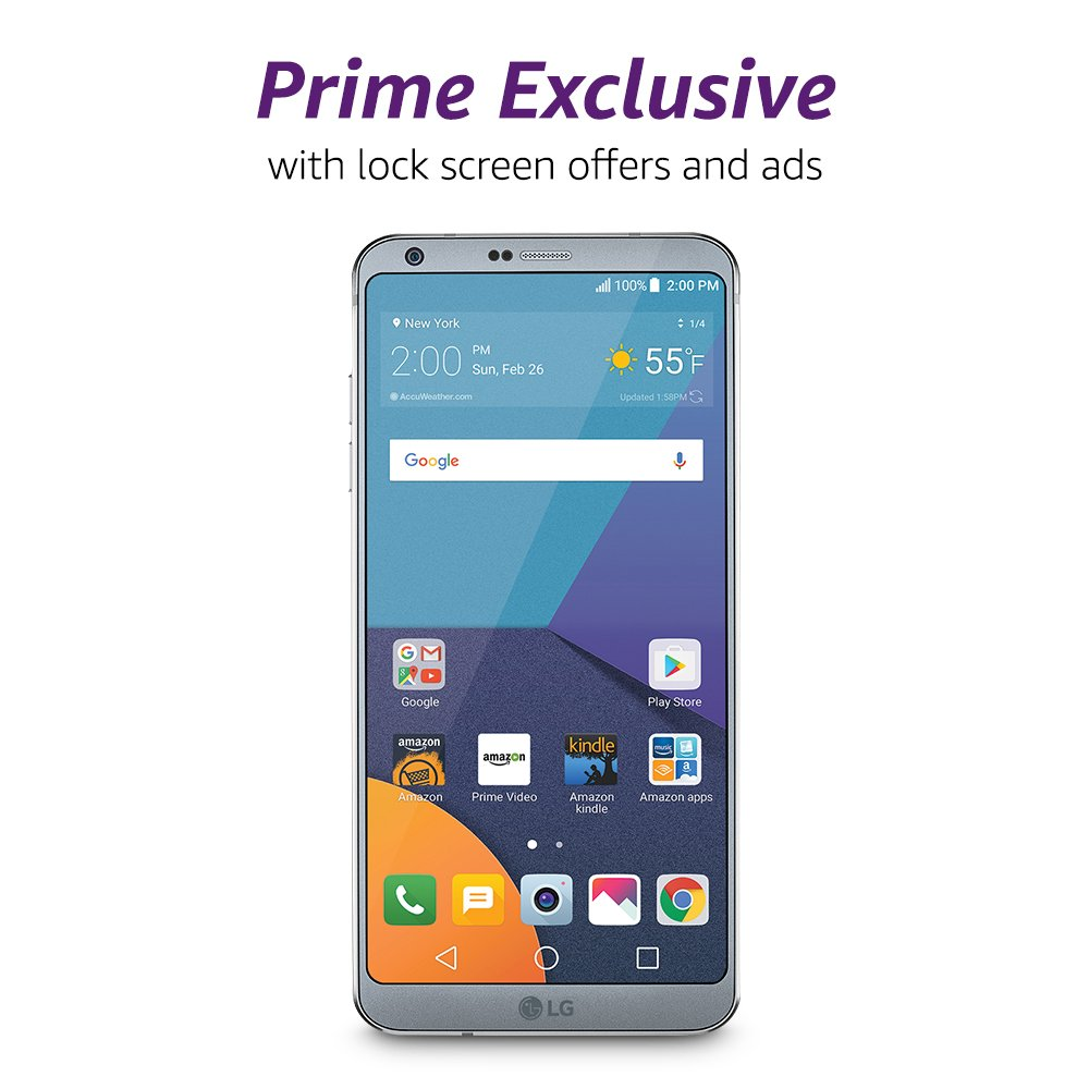 Amazon prime membership phone number - Amazon Com Lg G6 32 Gb Unlocked At T T Mobile Verizon Platinum Prime Exclusive With Lockscreen Offers Ads Cell Phones Accessories