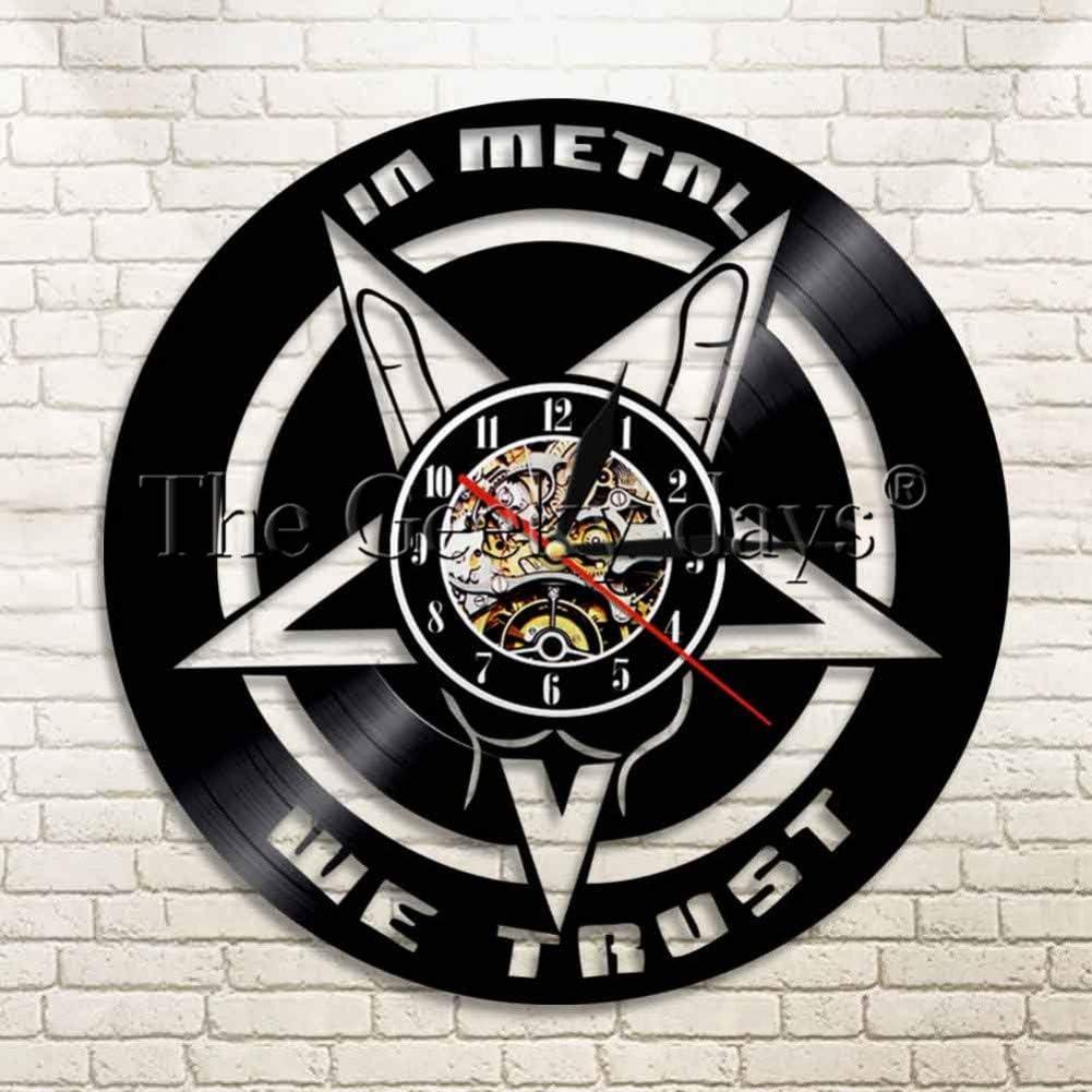 HDNFW Reloj de Pared 1 Pieza en Metal Confiamos en el Reloj de ...