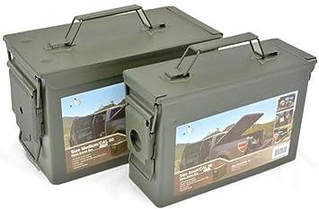 AB Municiones Impermeables y Caja de Herramientas (Aceituna/Set de 2 Calibre 30 / Calibre 50): Amazon.es: Deportes y aire libre