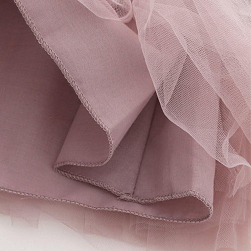 Gprince Baby Girls Velvet Stitching Long-Sleeved Dress Cute Yarn Skirt as Xmas Gifts