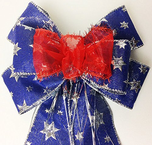 Red Blue gift bow Wine Bottle Décor Gift wrapping bows Hostess gift bows Gift Basket bows Birthday party bows