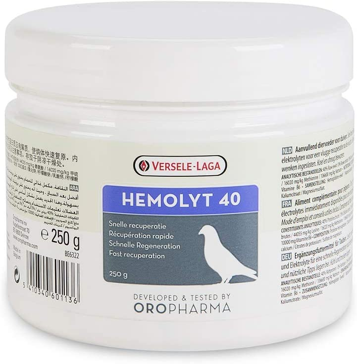 Versele-Laga Oropharma Hemolyt 40 250 gr (electrolitos + ...