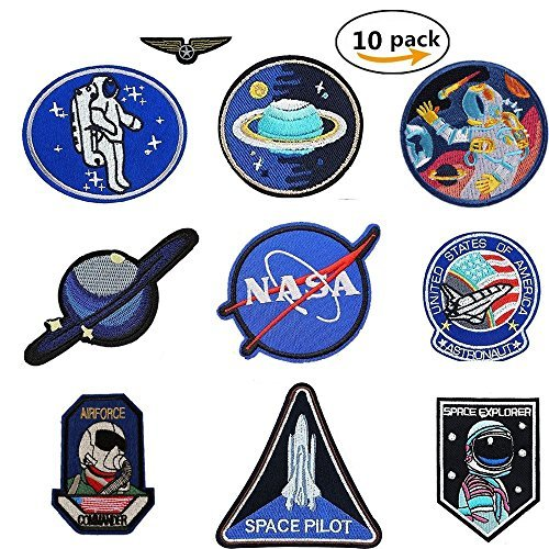 Buy Discount Jelacy 10 Pcs NASA Patches Iron On jackets,space patches Motif Applique Sew on With Iro...