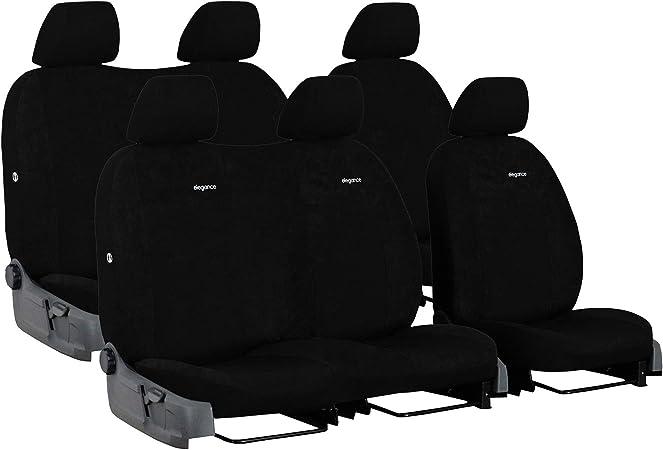 Autositzbezüge Schwarz Komplettset 6 Sitze Transporter Sitzbezug Schonbezüge Maß Auto