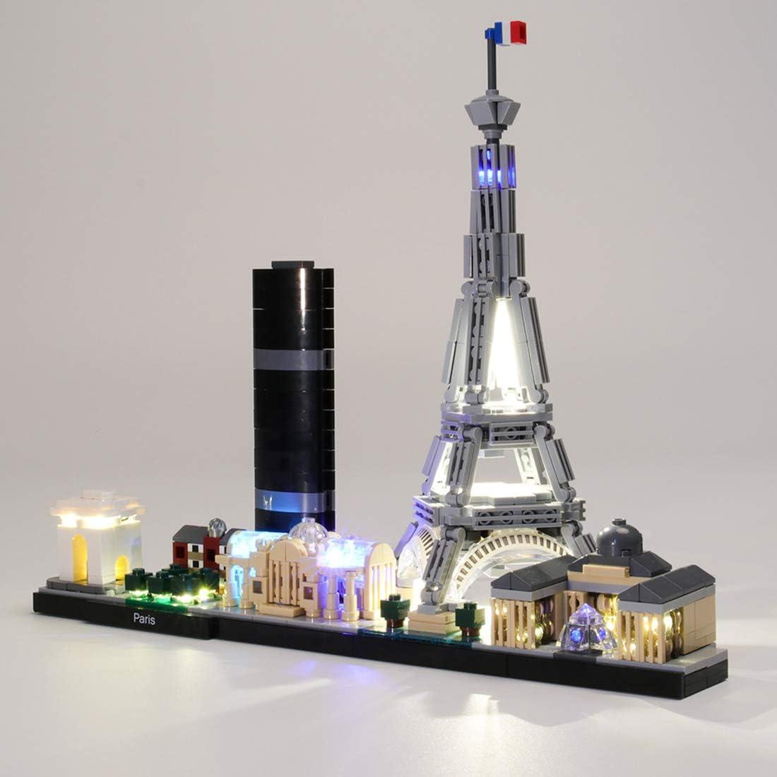K9CK Luces LED para Lego Architecture París 21044, Kit de Iluminación Luz Compatible con Bloques de construcción (NO Incluido en el Modelo)