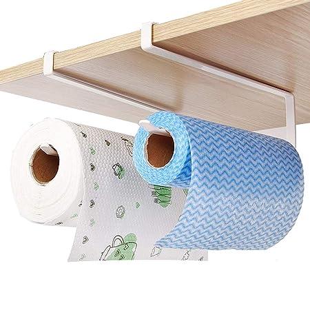 Juego de 2 soportes para rollo de papel de cocina de Teerfu, dispensador para colocar bajo el mueble: Amazon.es: Hogar