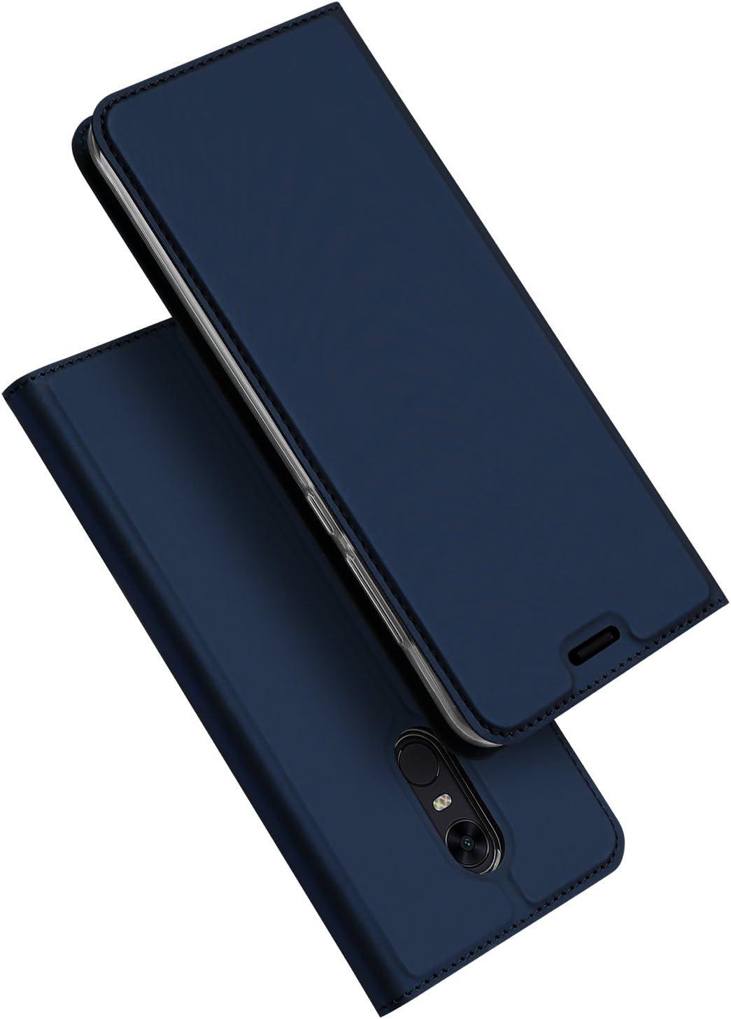 Rockway® XiaoMi RedMi 5 Plus Cover,Slot per card design,PU+TPU,chiusura magnetica,perfetta corrispondenza XiaoMi RedMi 5 Plus(blu)
