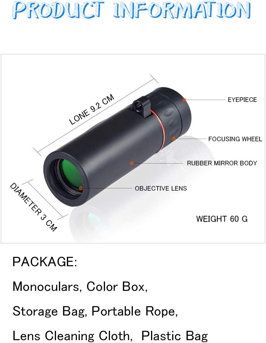 Portable Telescope for Kids Beginners Adults Travel Camping Field Portable Compact 60 Times Astronomical Refracter Telescope