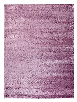 Carpeto Rugs Tapis Shaggy Salon Violet 80 x 150 cm Moderne/Milo ...