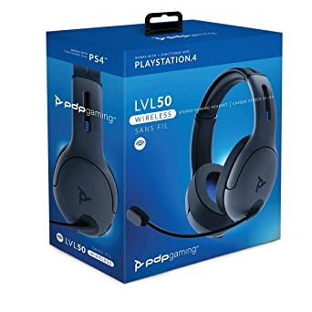 Amazon Com Pdp 051 049 Na Lic Ps4 Lvl50 Wireless Stereo Gaming Headset 051 049 Na Lic Video Games