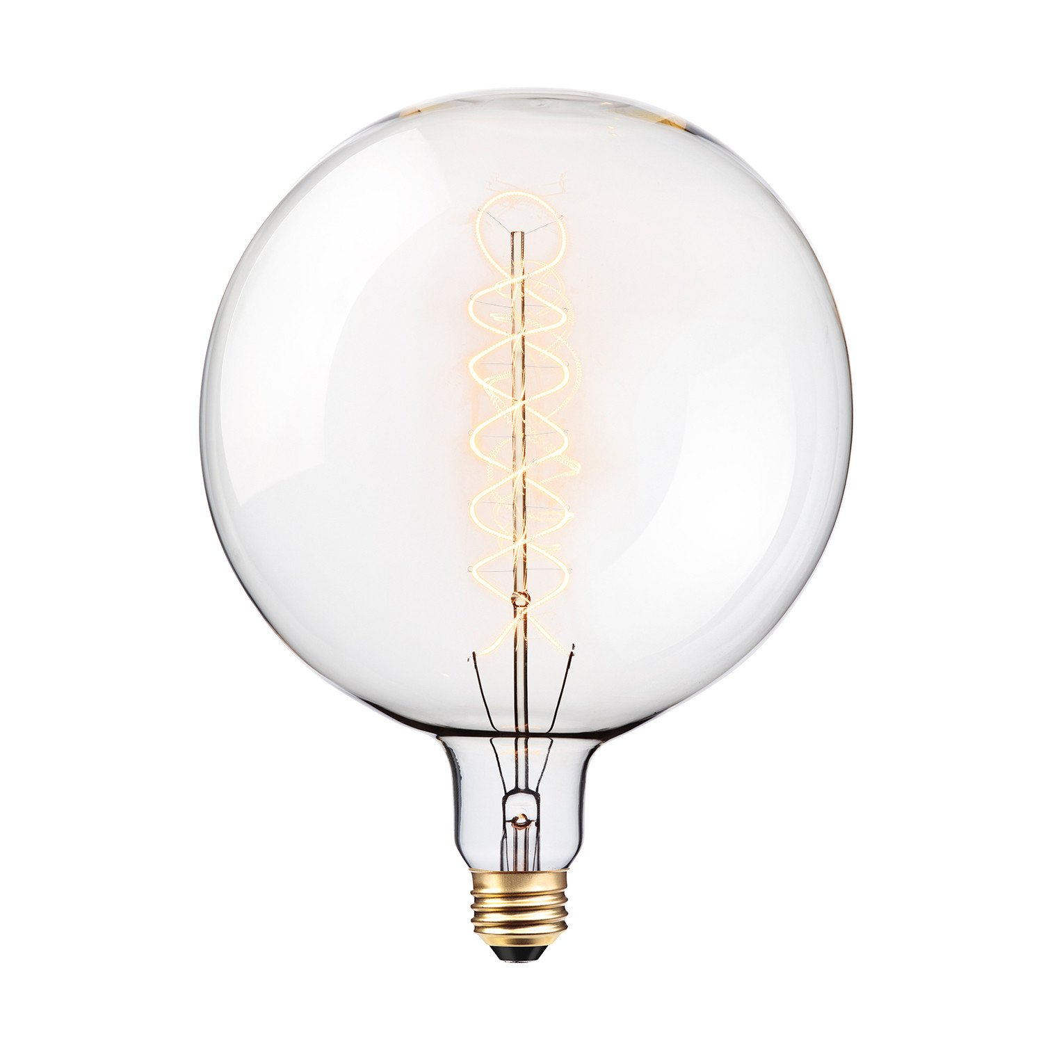 Globe Electric Oversized Round Vintage 100W Clear Glass Dimmable Incandescent Light Bulb, E26 Base, 400 Lumens, 80128