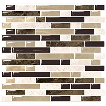 Amazoncom Stickgoo Marble Look Peel And Stick Backsplash Self