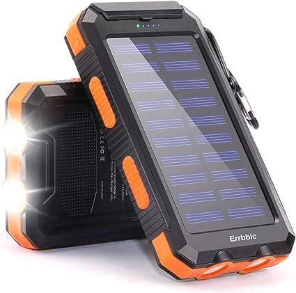 Amazon.com: Cargador solar de 20000 mAh con brújula para ...