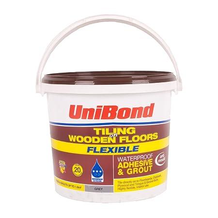 Unibond Wooden Flooring Tile Adhesive Grout Grey 18m2 Amazon