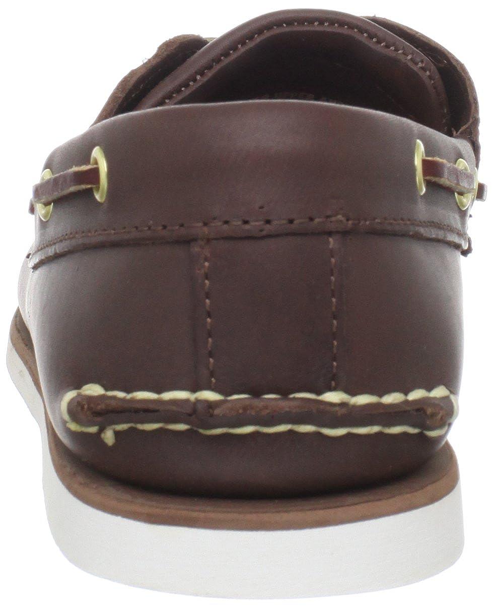 Timberland Men's Classic 2 Eye Boat Shoe, Dark Brown, 10 M
