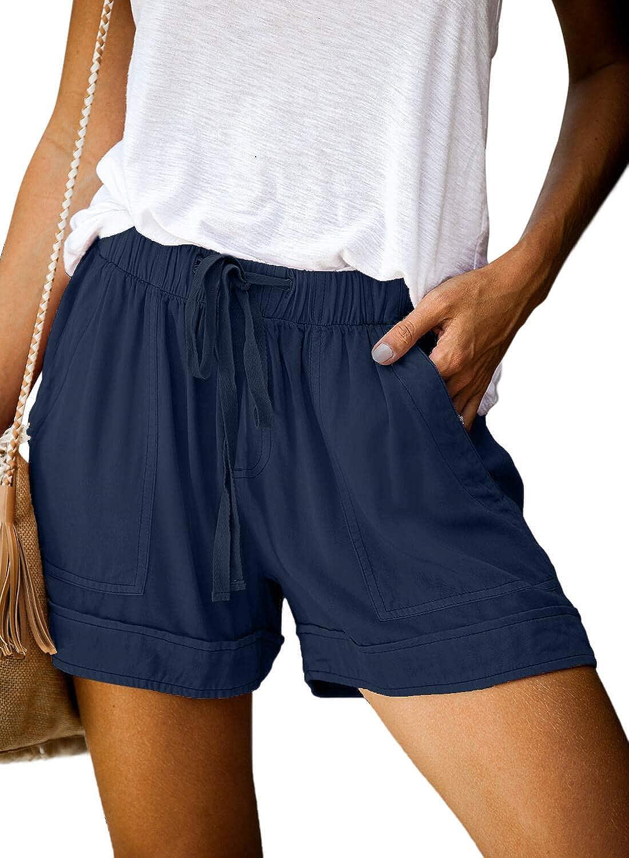 con coulisse Dokotoo con tasche casual Pantaloncini estivi da donna