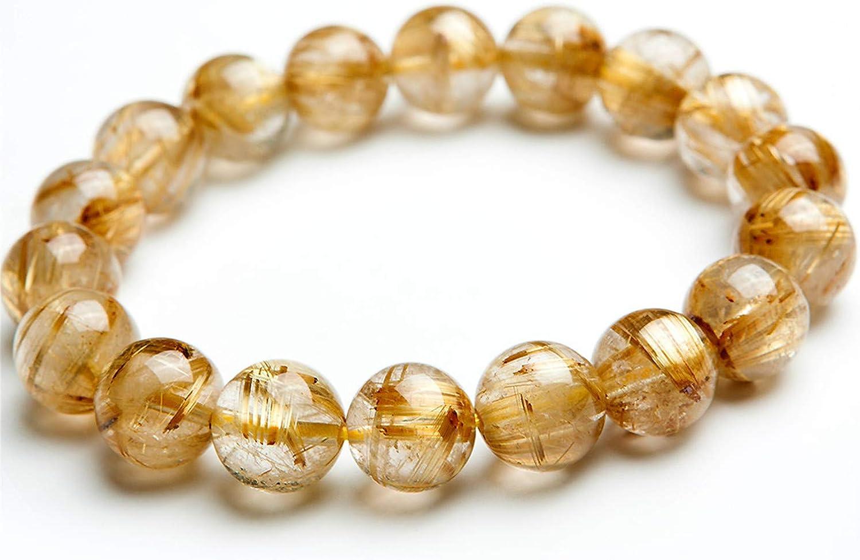 Natural 8mm Grade AA  Rutilated Quartz  Beads Rutilated Quartz Beads BK46 Rated Genuine