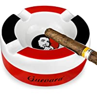 "GUEVARA Cigar Ashtray Big Ashtrays for 8"" Round Cigarettes Large Rest Outdoor Cigars Ashtray for Patio/Outside/Indoor…"