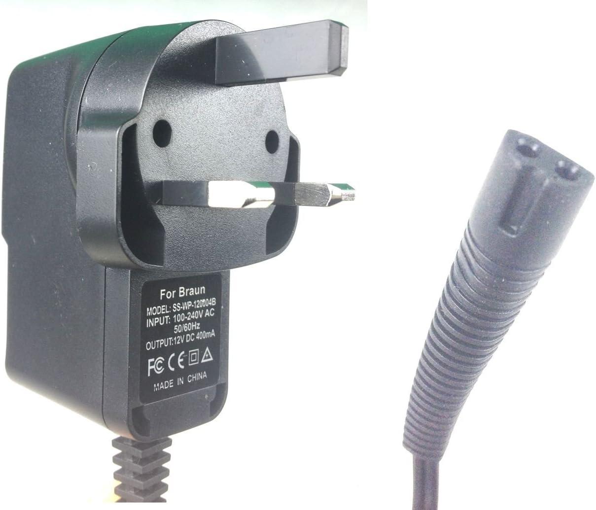 Cargador de afeitado BRAUN Series 3 y Series 1. Cable de carga y ...